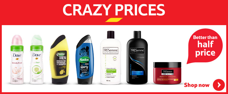Crazy prices on health & beauty